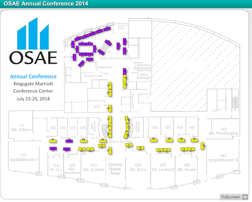 OSAE Annual Conference 2014 Exhibit Hall Floorplan